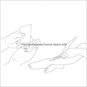 Sugaring Anleitung Schritt 6: Die Haut eincremen und pflegen
